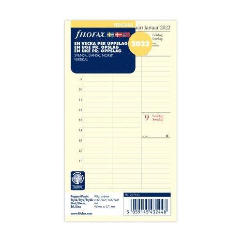 Kalendersats 2022 Dagbok Personal Vecka/Uppslag vert S/D/N 1