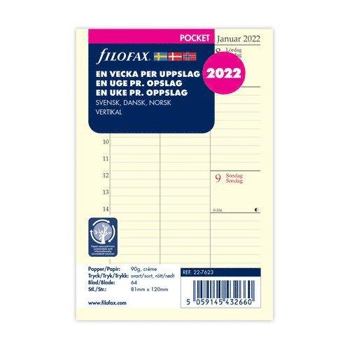 Kalendersats 2022 Dagbok Pocket Vecka/Uppslag vert S/D/N 1
