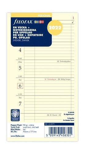 Kalendersats 2022 Dagbok Personal Vecka/Sida Notes S/D 1