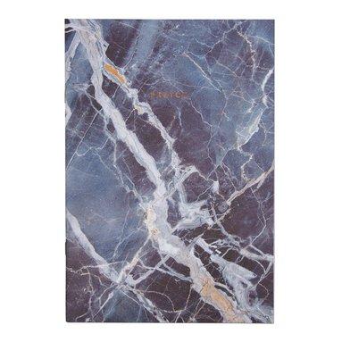Anteckningsbok A4 linjerad mjuk pärm blå marmor