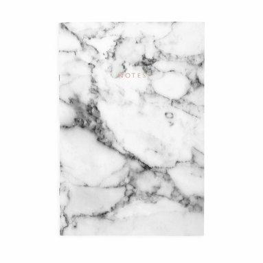 Anteckningsbok A4 linjerad mjuk pärm vit marmor