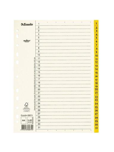 Register A4 papper 1-31 servo