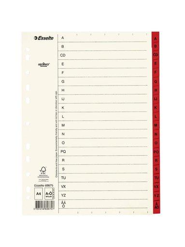 Register A4 papper A-Ö servo
