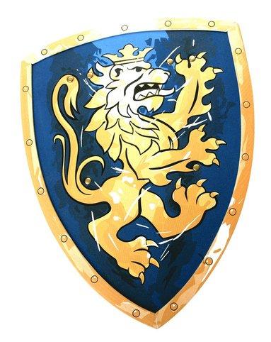 Sköld lejon blå