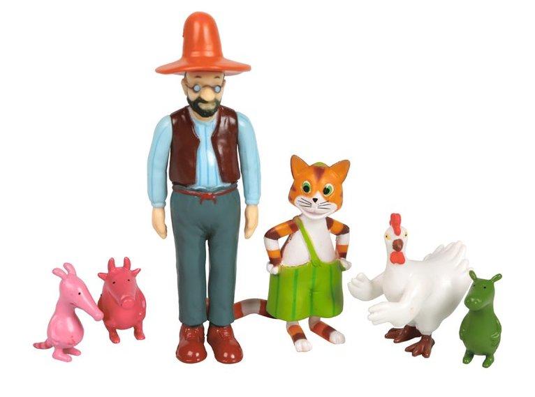 Plastfigurer Pettson och Findus 1