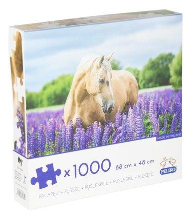 Pussel 1000 bitar Hästen med blommor