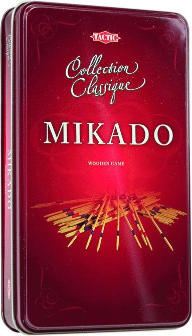 Plockepinn (Mikado) i plåtask