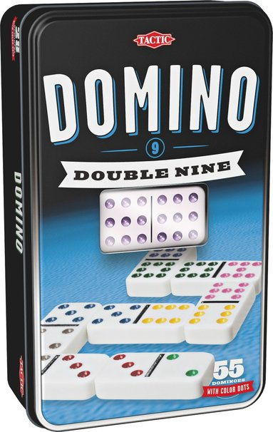 Domino Dubbel 9 plåtask 1