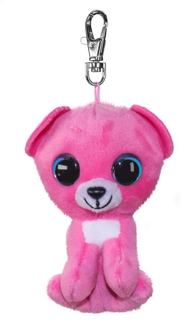 Mjukdjur Raspberry björn 8,5cm med clips