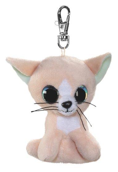 Mjukdjur Peach katt 8,5cm med clips