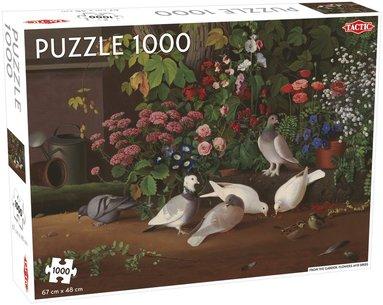 Pussel 1000 bitar From the garden:Flowers and birds, Ferdinand von Wright