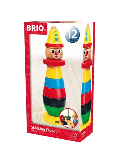 Stapelleksak Brio clown 1