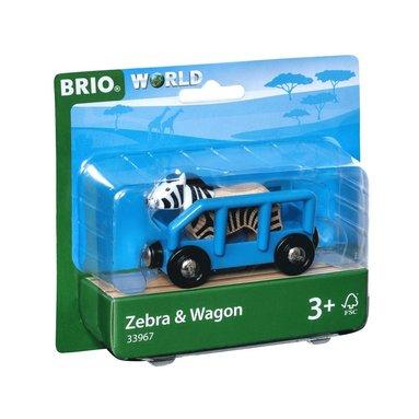 Brio zebra och tågvagn 1