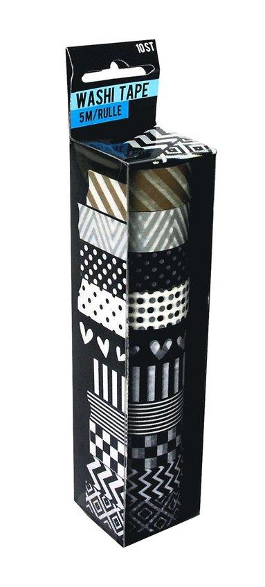 Dekorationstejp 10 st 5m svart metallic