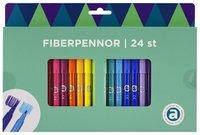 Fiberspetspenna 24 färger