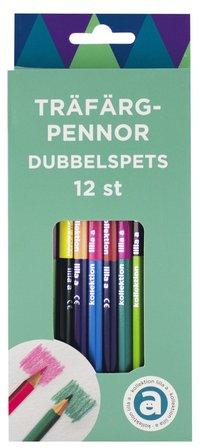 Färgpenna dubbelspets 12 färger