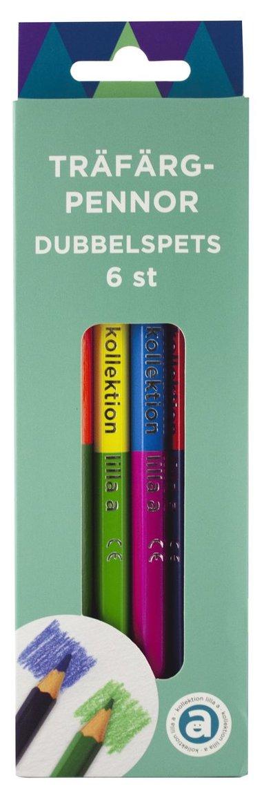 Färgpenna Duo Jumbo 6 färger