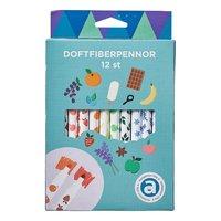Doftfiberpenna 12 färger