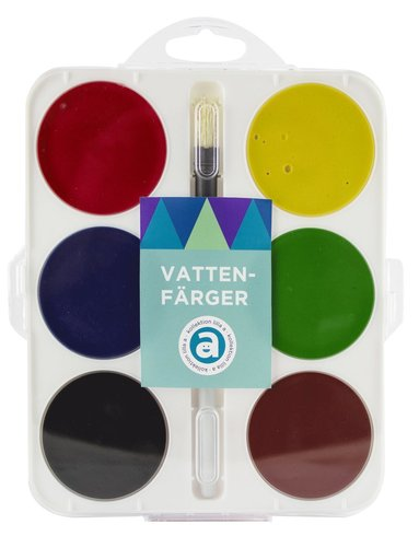 Vattenfärg 6 färger