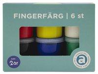 Fingerfärg 6 färger