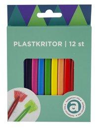 Plastkritor 12 färger