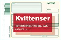 Kvittensblock A6L 2x50 blad med kopia