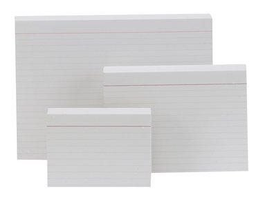 Skrivkort A6L 100st vit