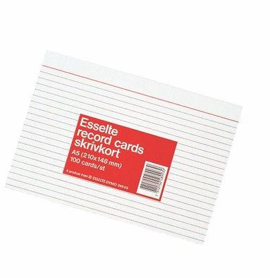 Skrivkort A5L 100 st vit