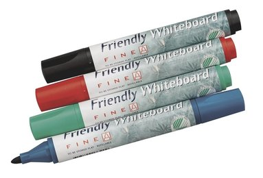 Whiteboardpenna Friendly rund spets 4-pack