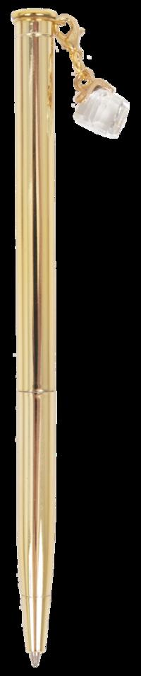 Kulspetspenna med sten guld
