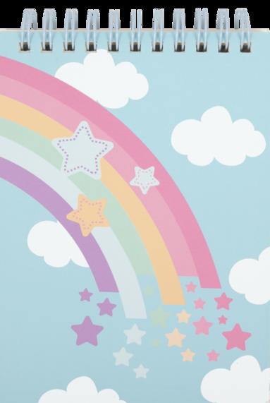 Spiralblock A6 Rainbow blå