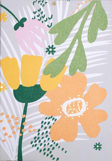 Skrivhäfte A5 Floral