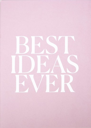 Skrivhäfte A5 Best Ideas Ever rosa