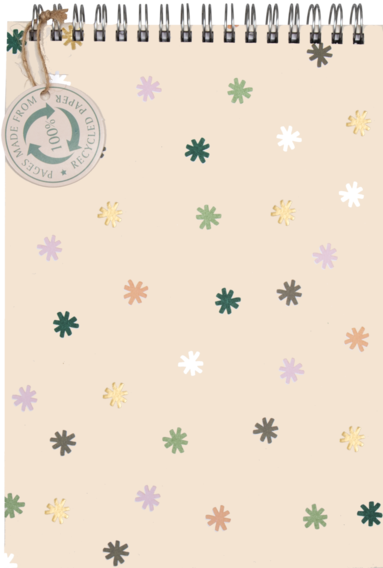 Spiralblock A5 Mini Floral