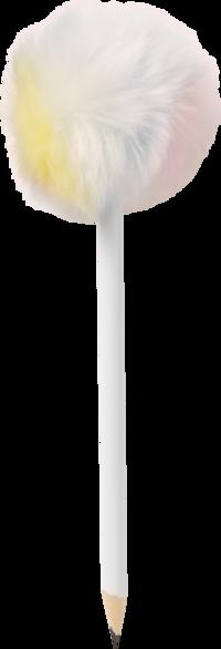 Blyertspenna Pom Pom pastell regnbågsfärgad