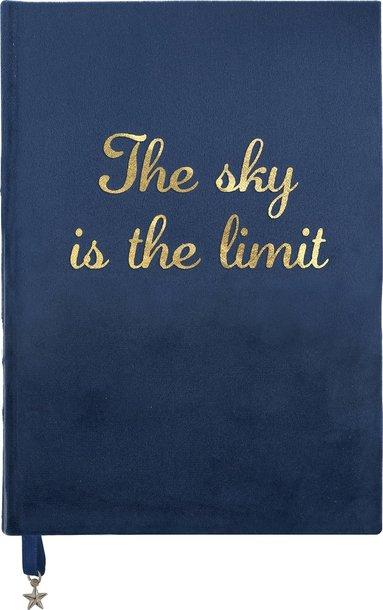 "Anteckningsbok A5 ""The sky is the limit"" blå"