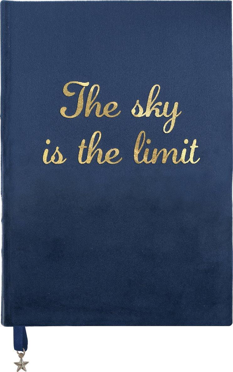 "Anteckningsbok A5 ""The sky is the limit"" blå 1"