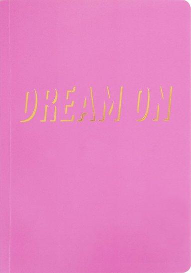 "Skrivhäfte A5 ""Dream on"" rosa"