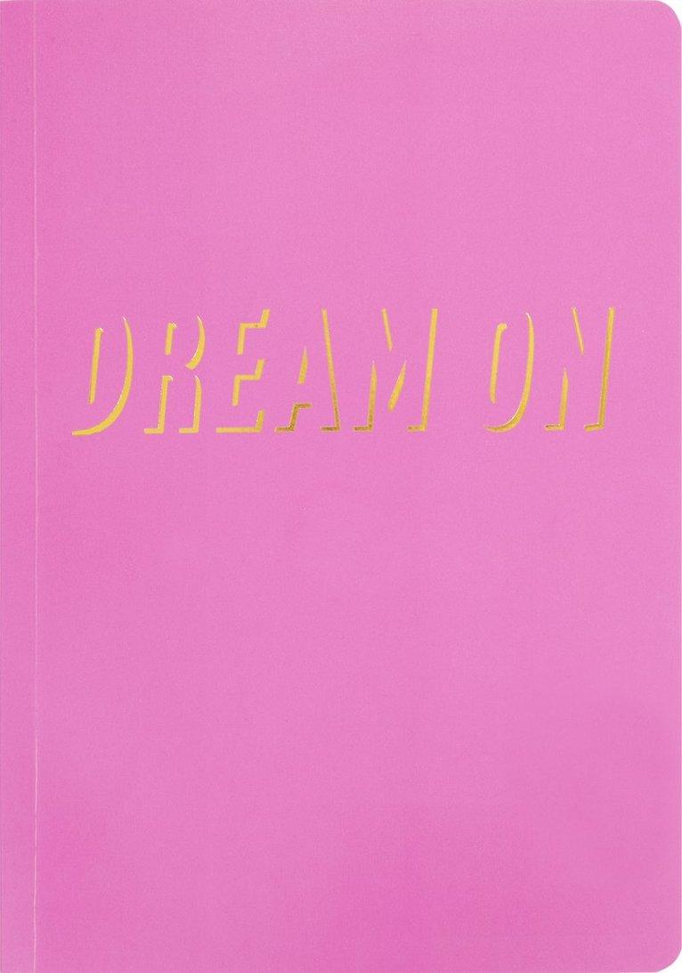 "Skrivhäfte A5 ""Dream on"" rosa 1"