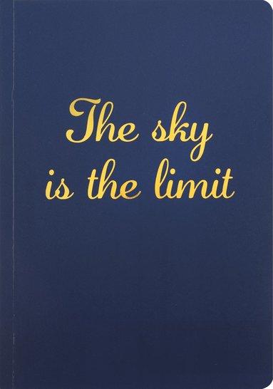 """Skrivhäfte A5 """"The sky is the limit"""" blå"""