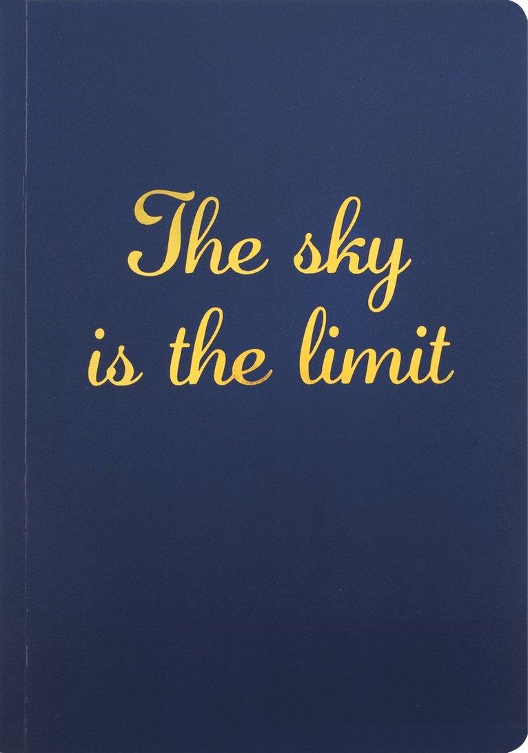 """Skrivhäfte A5 """"The sky is the limit"""" blå 1"""