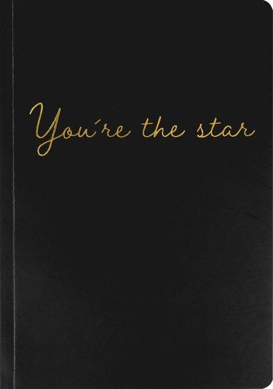 """Skrivhäfte A5 """"You´re the star"""" svart"""