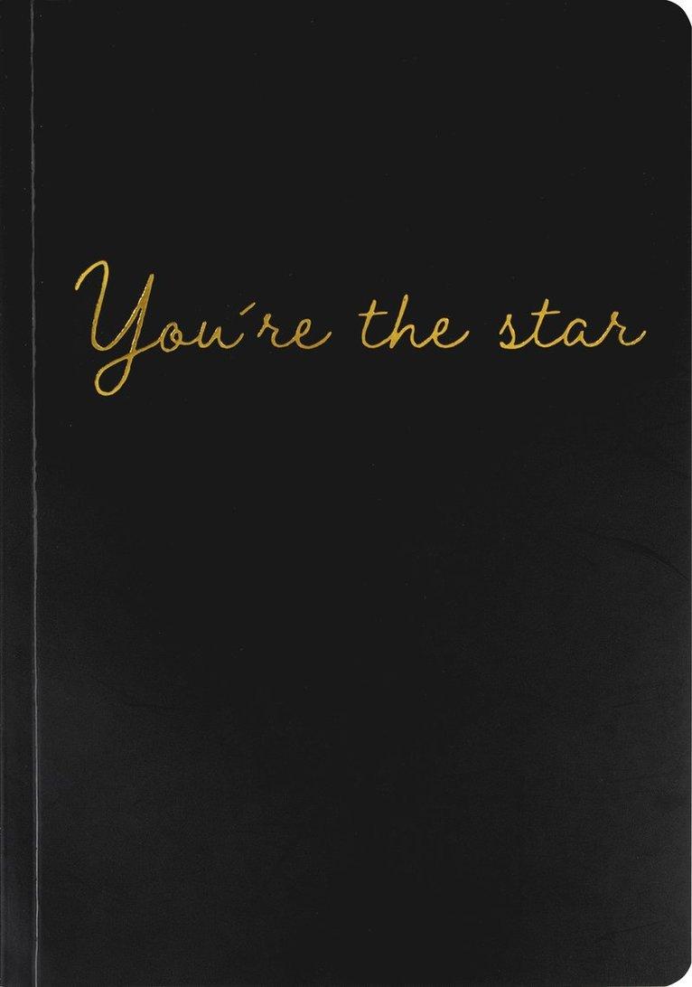 """Skrivhäfte A5 """"You´re the star"""" svart 1"""
