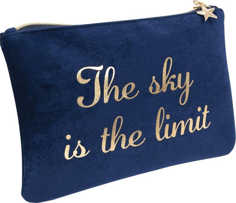 "Pennfodral ""The sky is the limit"" blå 1"