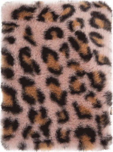 Anteckningsbok A5 Pom Pom leopard rosa