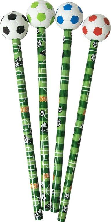 Blyertspenna med radertopp fotboll