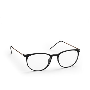 Läsglasögon +2.5 Lix tunn båge svart