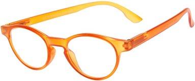 Läsglasögon +1.0 Lix runda orange 1