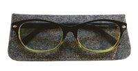 Läsglasögon +3.0 Lix svartgrön