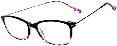 Läsglasögon +2.5 Lix lilamelerad